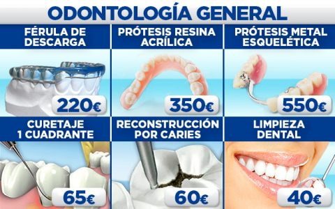 Odontología general en la Clínica Dental Conde Duque